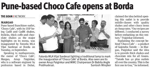 Pune-based Choco Cafe opens at Borda